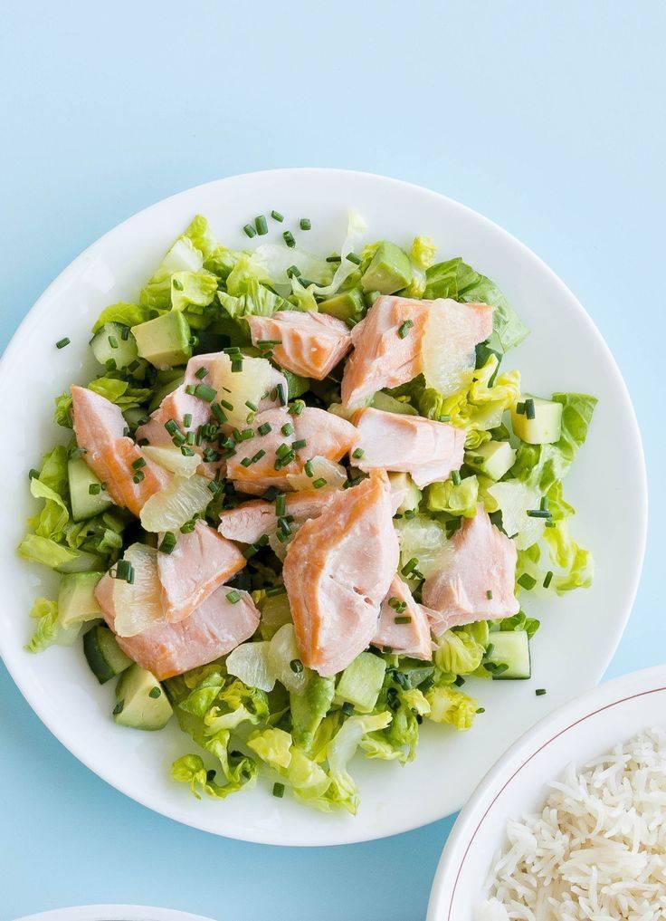 """Новогодний салат """"суши"""" с лососем"""
