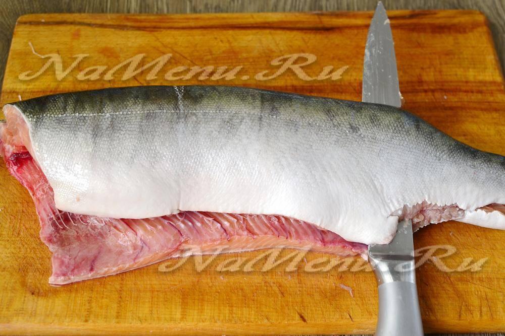 Как удалить хребет из горбуши. использование рыбы при правильном питании. как разделать горбушу на филе