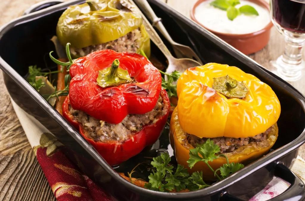 Перец, фаршированный рисом и креветками – кулинарный рецепт