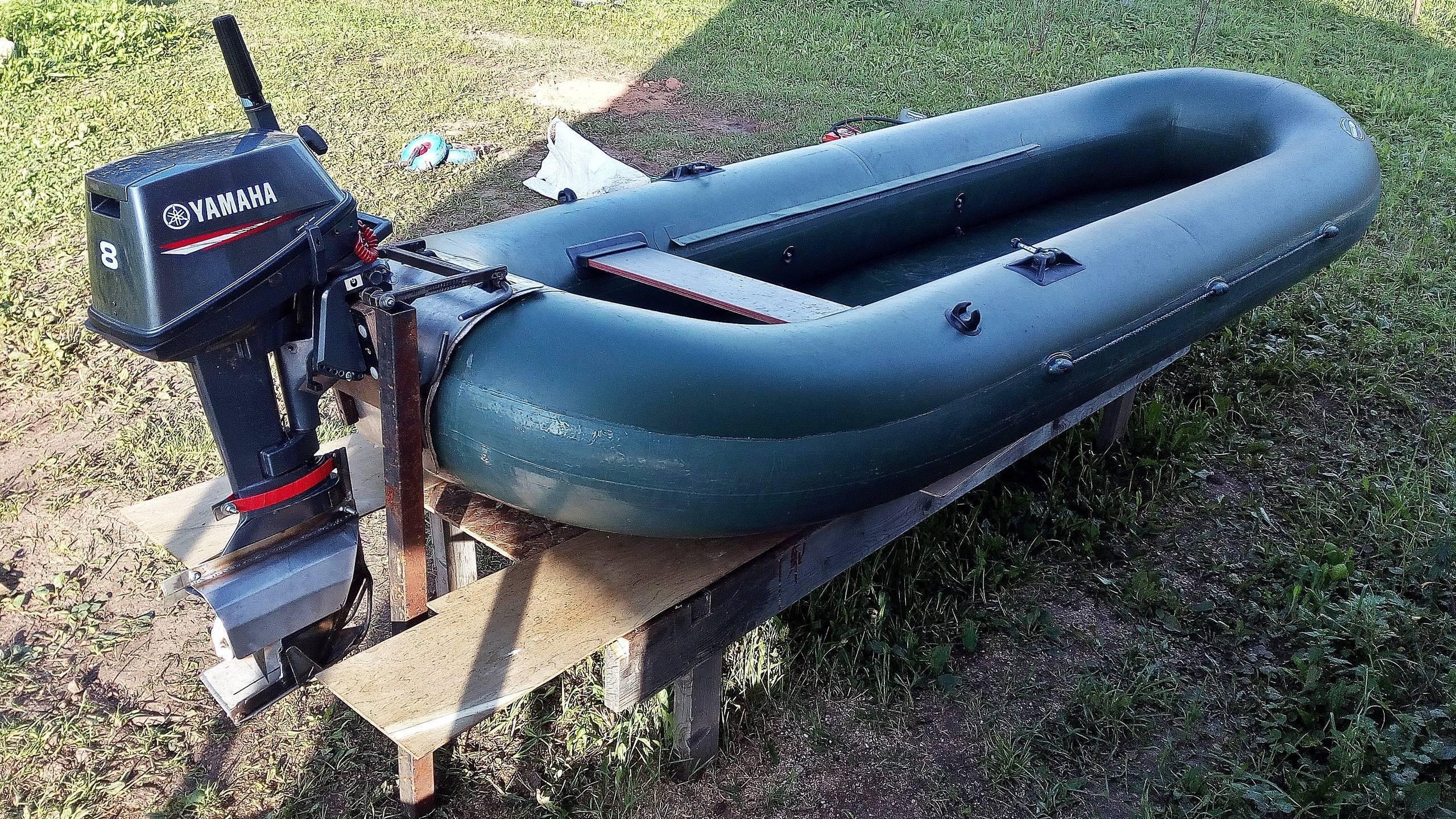 Установка водомета на лодку с тоннелем