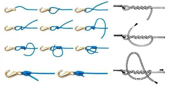 Как правильно привязать поводок к основной леске и плетенке – лучшие рыболовные узлы