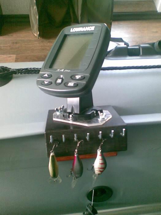 Установка датчика эхолота на алюминиевую лодку