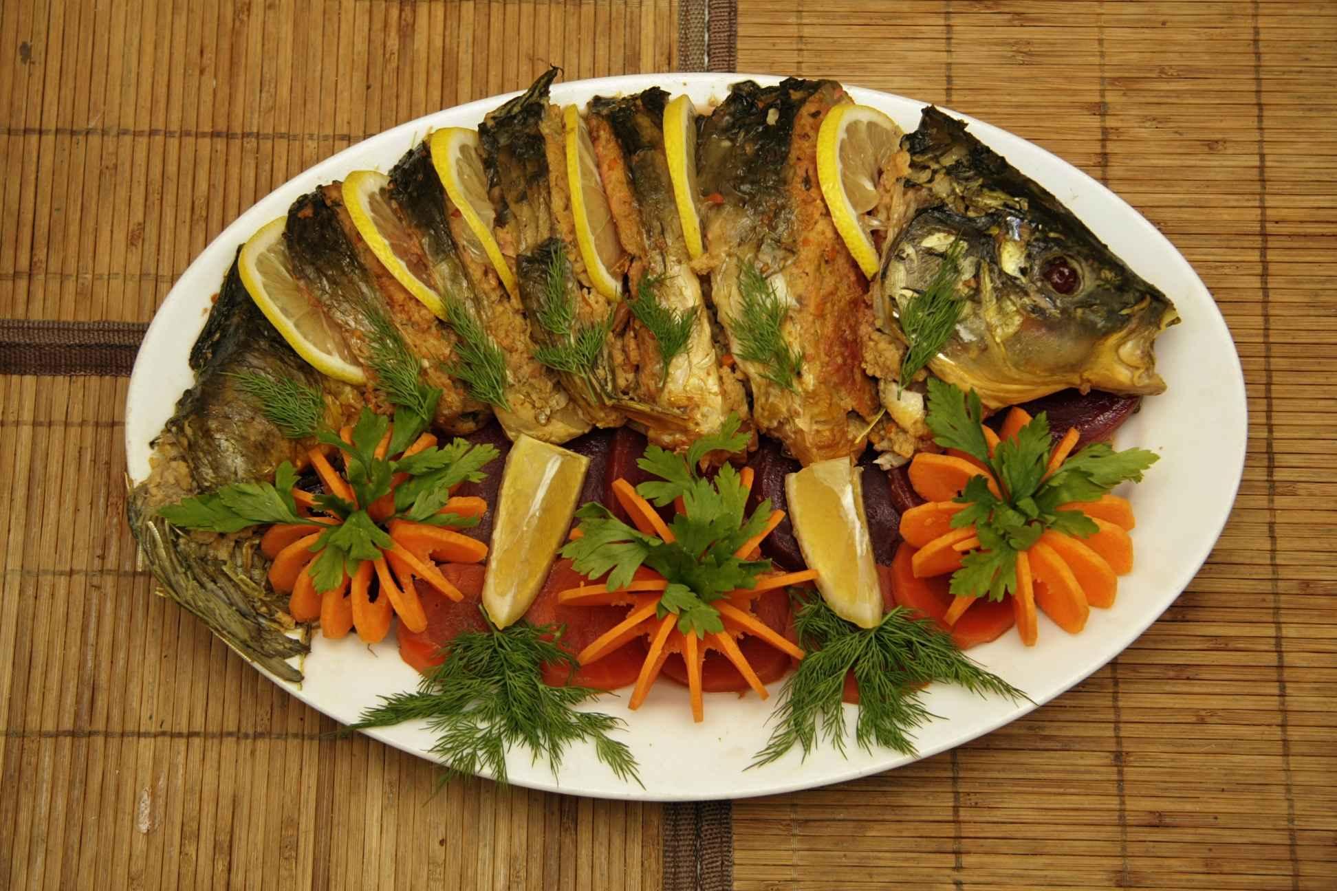 Запеченное филе судака с сыром