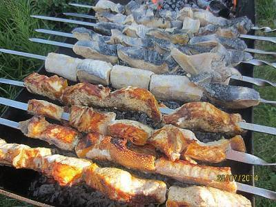 Шашлык из осетрины: приготовление и рецепты маринада к шашлыку