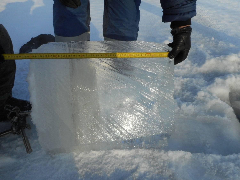 Допустимая и безопасная толщина льда при передвижении по нему