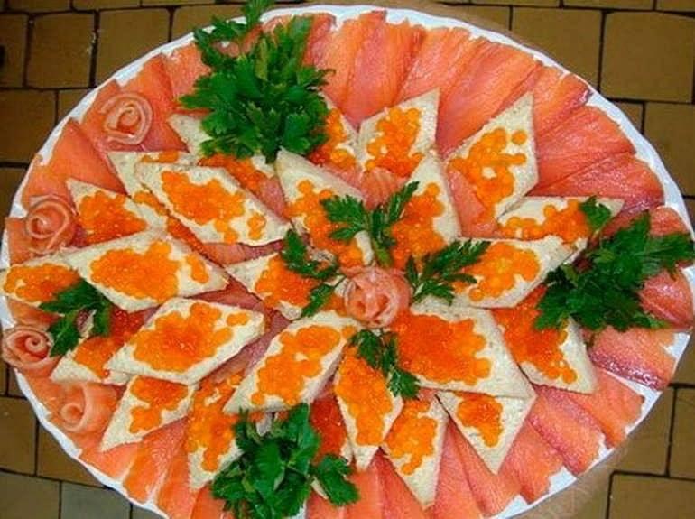 Рецепты закуски из красной рыбы и сливочного сыра на праздник