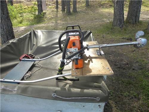 Как самостоятельно изготовить лодочный мотор из триммера?