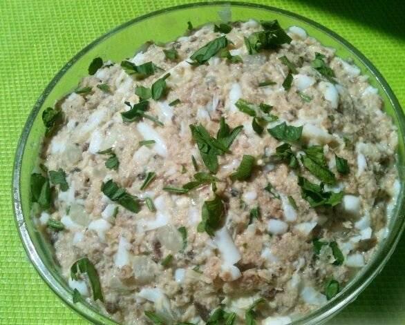 Рыбные салаты с рисом