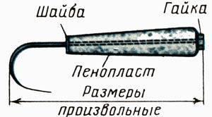 Багорик для зимней рыбалки: как сделать его своими руками из подручных материалов