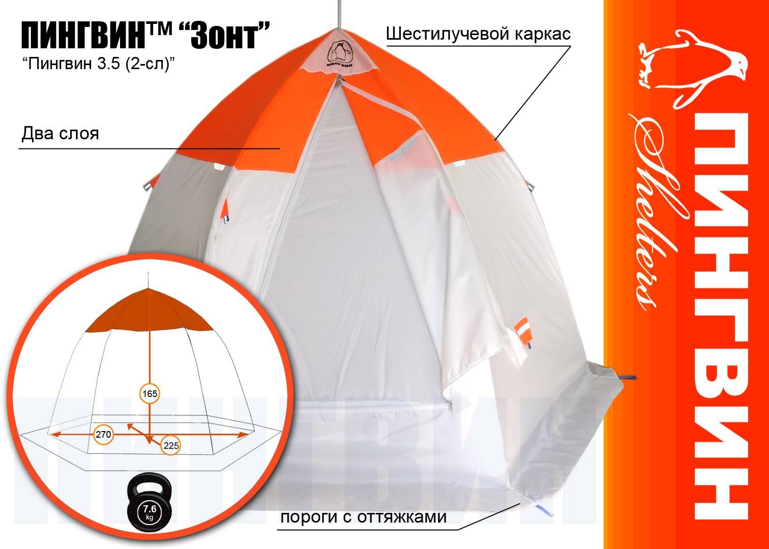 Какие рыболовные палатки самые лучшие?