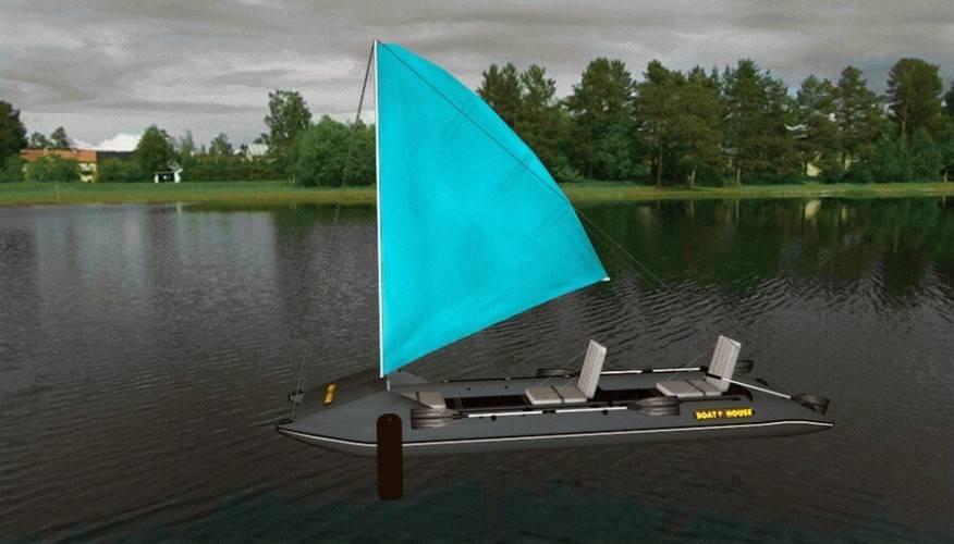 Парус на гребной лодке «чижик» - изготовление парусного вооружения