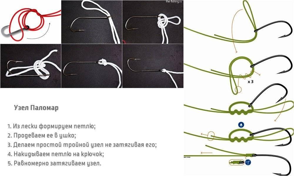 Паломар – двойной рыболовный узел. как вязать?