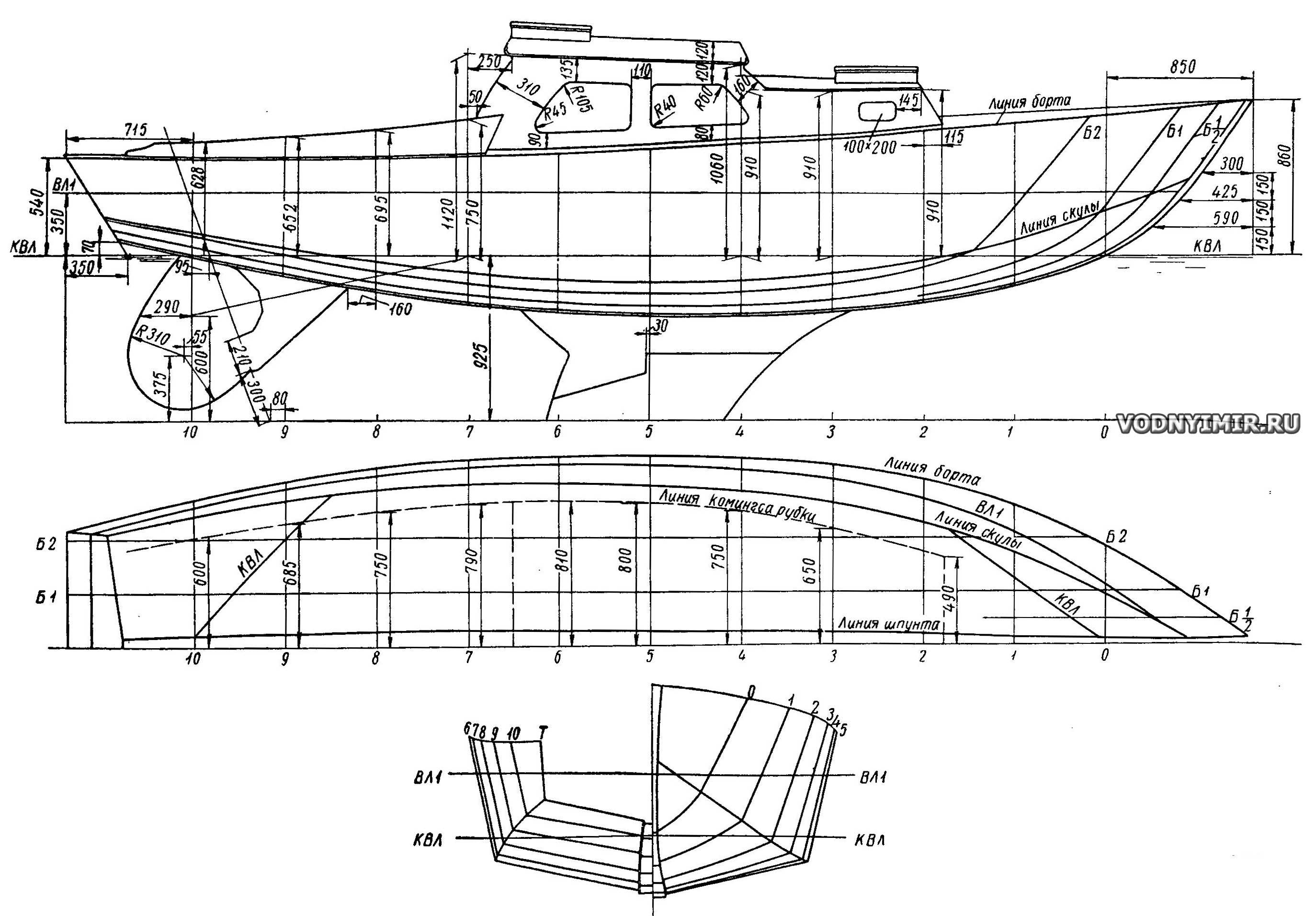 Наборы для самостоятельной постройки лодок, катеров и яхт из фанеры и алюминия